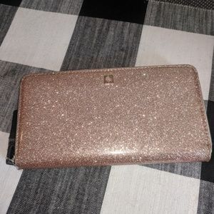 Kate Spade Large Zip Glitter Wallet